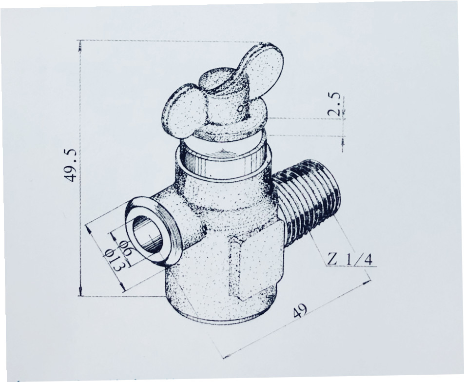 RSF-1 shut-off valve for aircraft