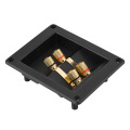 DIY 4 Copper Binding Post Terminal Cable Connector Speaker Terminal Box Acoustic Components