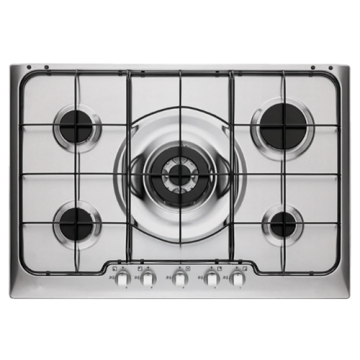 Electrolux Steel Hob Top 5 Rings