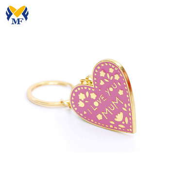 Custom Heart Shapes Die Cast Enamel Metal Keychain