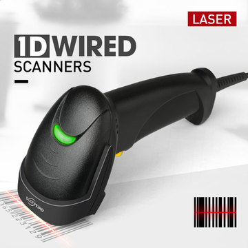 Handheld 1d Laser Wired Barcode Scanner