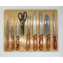 10pcs knife board handle set
