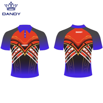 Custom sublimated mens polo shirts