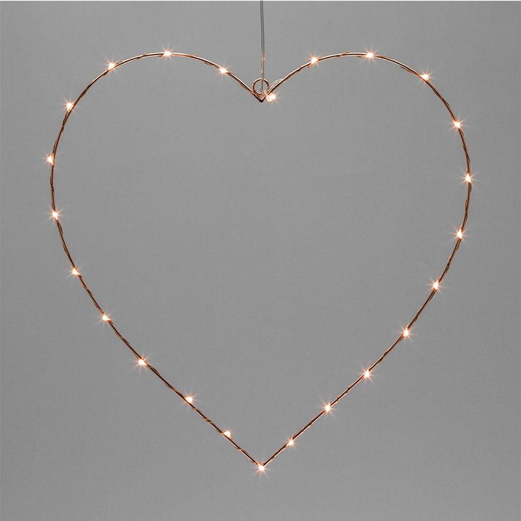 love shape led motif light