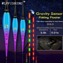 WLPFISHING Fishing Floats Electric Floats Gravity Sensor LED Light Change When Fish Baits Luminous Composite Nano Fishing Bobber