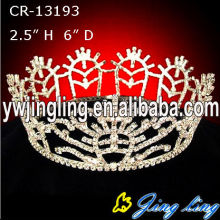 Rhinestone Full Round Pageant Crowns