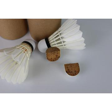 Natural Full Cork Bulb Head Goose Feather Badminton