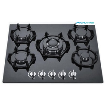 Built In Gas Hobs Tempered Glass Panel