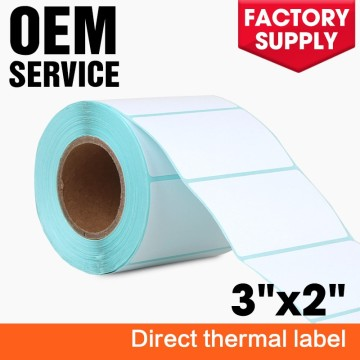 2x3 inch custom blank direct thermal label rolls