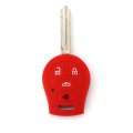 silicone materail nissan key fob cover 5 button