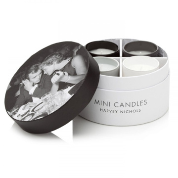 Empty Luxury Round Gift 4 Candle Set Box