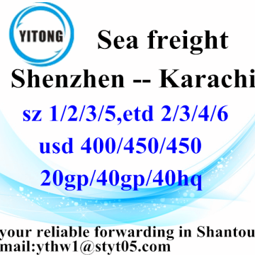 Shenzhen to Karachi Container Shipping Services