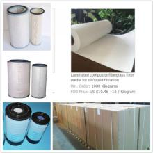 Glass Microfiber Oil and  Liquid Filter Media