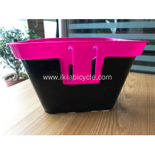 Plastic Round Wicker Bicycle Basket