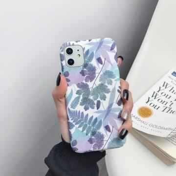Colorful Literary Freshness Mobile Phone Case Protection Covers Micro Scrub PC Hard Case For iPhone 6/6S/X/XR/XS/11/11pro TXTB1