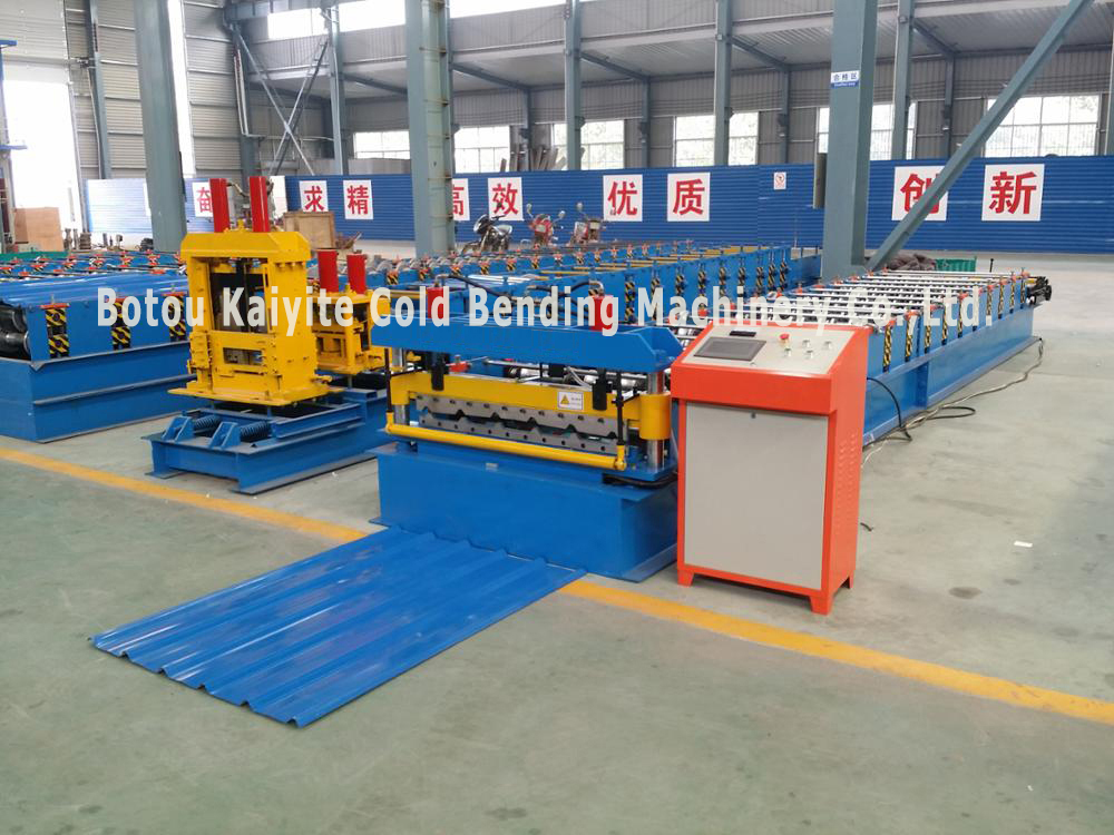 Metal Roofing Sheet Trapezoid Profile Roll Forming Making Machine For Sale