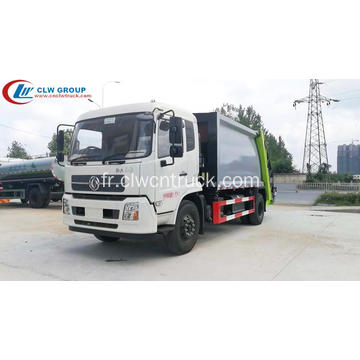 Type de luxe Dongfeng 180hp 12cbm Garbage Compacting Truck