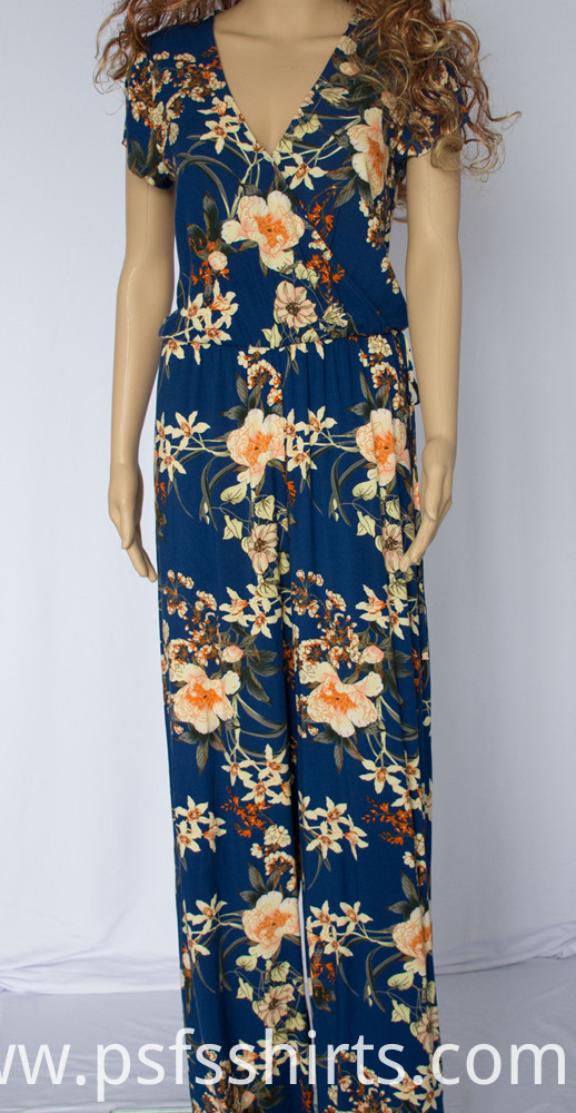 Long Print Jumpsuits