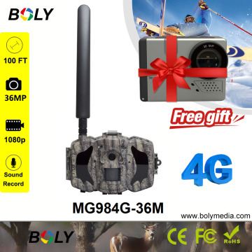 hunting camera 4g no glow IR wireless gsm transfer 36MP 1080P photo trap support 6V DC free cloud service cellular game camera