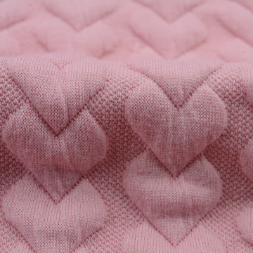 High quality doble knit jacquard winter jacket fabric