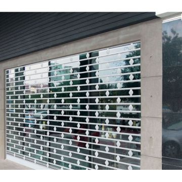 Vertical PC Transparent Shutter Commercial Crystal Door