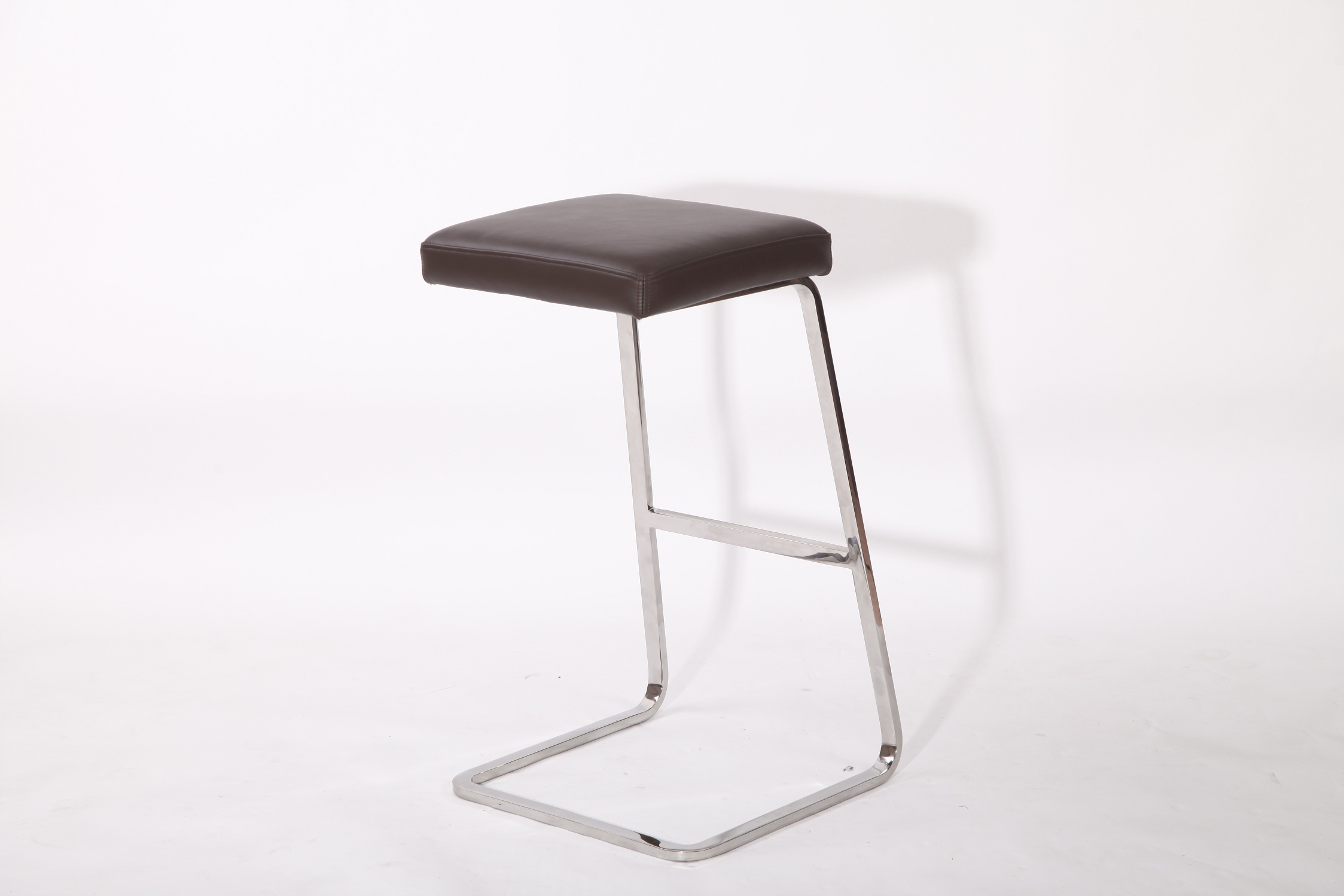 Genuine Leather Van Der Rohe Barstool