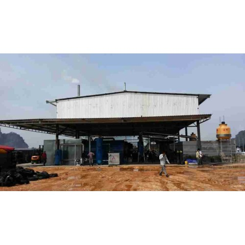 high oil output new waste tyre pyrolysis machine