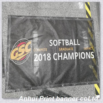 Outdoor advertising mesh banner