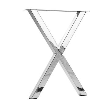 Hot same polished chrome table legs x shapes