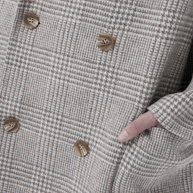 Buttons for Beige double-breasted cashmere overcoat