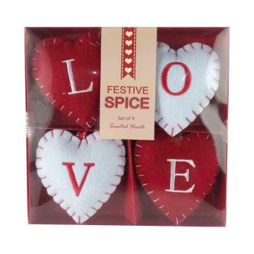 Valentine's day sweet heart shape hanging ornaments set