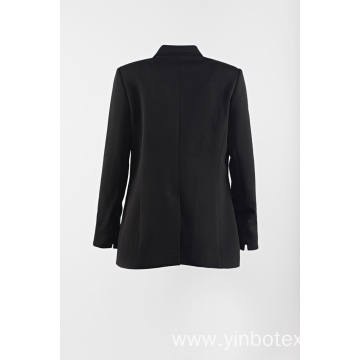 Black suit with gold button