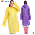 Promotional logo custom clear eco friendly disposable raincoat 2014 new