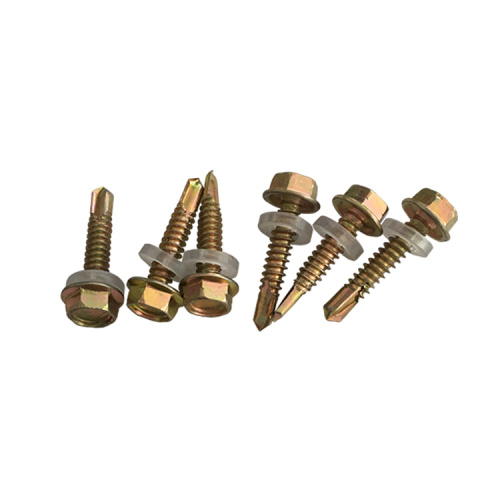 Yellow Zinc Metric Heavy Hex Flange Screws