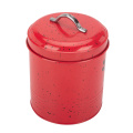 Red Earthenware Storage Canister NZ