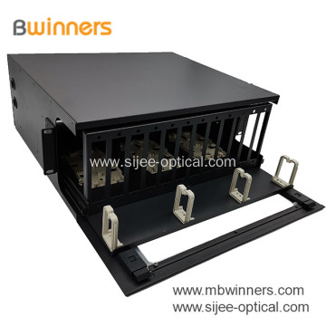 4U 144 Port Fiber Patch Panel Enclosure Slide-out Rack