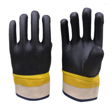 Two-color PVC dipping glue Jersey lining gloves