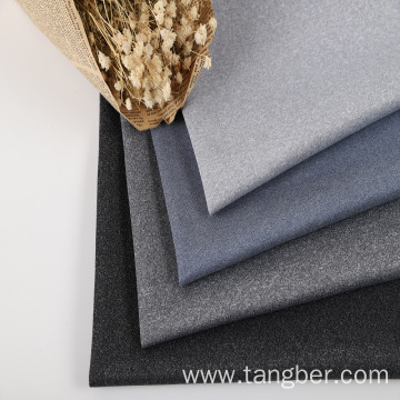 melange cationic polyester interlock scuba knit fabric