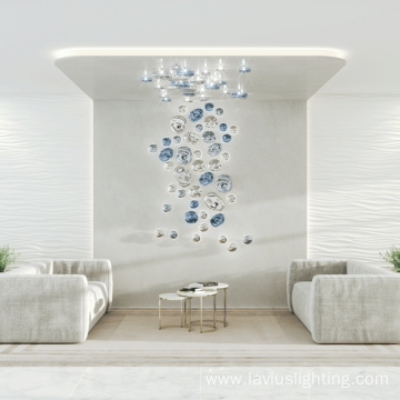 The Wall Contemporary Glass Spiral LED Chandelier