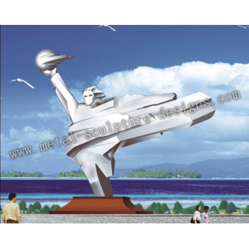 The stainless steel Sculpture For Air Station