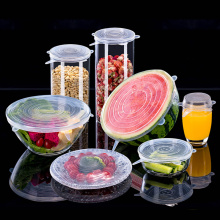 3/6pcs Reusable Silicon Stretch Lids Universal Pot Cover Wrap Bowl Pot Lid Silicone Cover Pan Kitchen Accessories Cookware