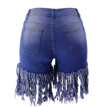 women's tassels denim shorts