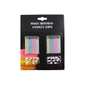 Sprial candles with Stickers