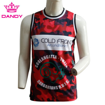 Camou sublimated basketball shirts