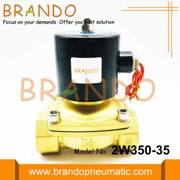 G1 1/4'' Brass Electric Solenoid Water Valve 2W350-35