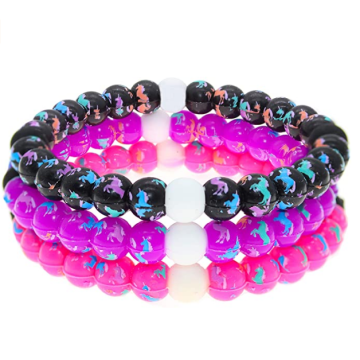Custom Cute Unicorn Silicone Bubble Bracelet