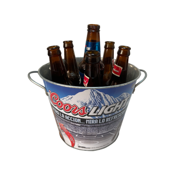 Double Fixed Handles beautiful printing cold lid cooler bucket
