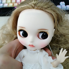 ICY Blyth doll Customized Face including the back plate and screws,matte face,lips carve, eyebrow