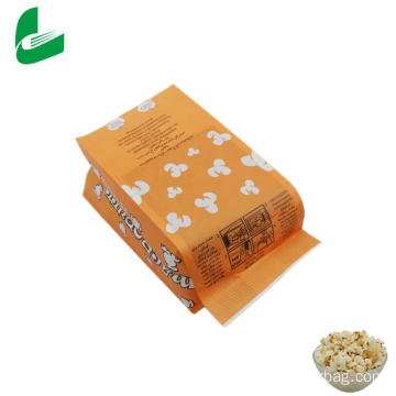 Kraft greaseproof microwave popcorn paper packaging bag