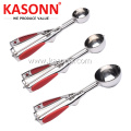 Stainless Steel Cookie Scoop Set with Silicone Grips